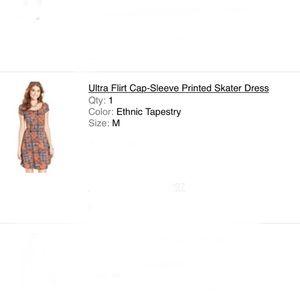 Geometric Pattern Skater Dress